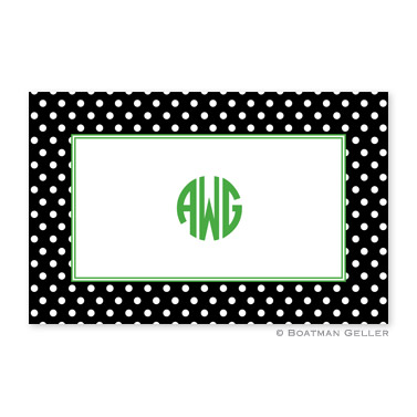 Laminated Placemat - Polka Dot