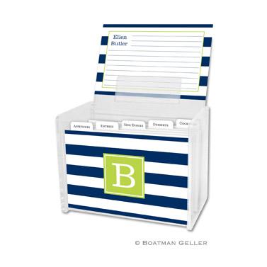 Recipe Box - Awning Stripe