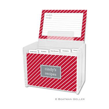 Recipe Box - Kent Stripe