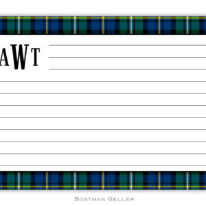Recipe Cards - Black Watch Plaid