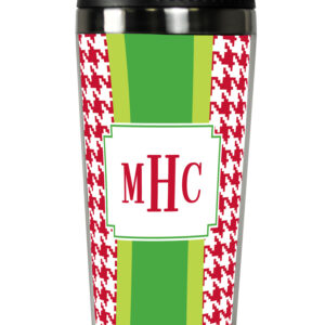 Travel Tumbler - Alex Houndstooth Red